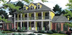 Colonial Plantation Southern House Plan 65615 Elevation