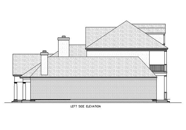 Colonial Plantation Southern House Plan 65615