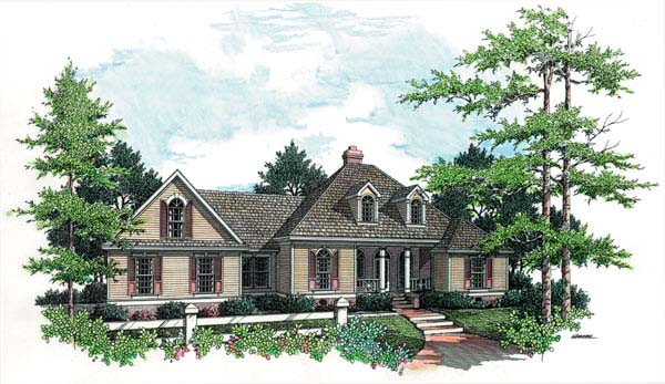 European House Plan 65616 Elevation