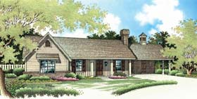 Ranch , Traditional House Plan 65617 with 3 Beds, 2 Baths, 2 Car Garage Elevation