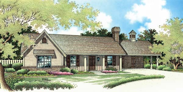 Ranch Traditional House Plan 65617 Elevation