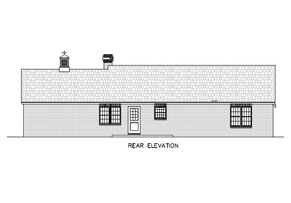 Ranch Traditional House Plan 65617 Rear Elevation