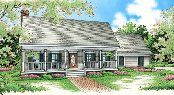 Country , Southern House Plan 65619 with 3 Beds, 2 Baths, 2 Car Garage Elevation