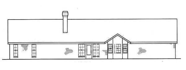 Ranch Traditional House Plan 65620 Rear Elevation