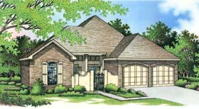 House Plan 65624 | European Style House Plan with 1891 Sq Ft, 2 Bed, 2 Bath, 2 Car Garage Elevation