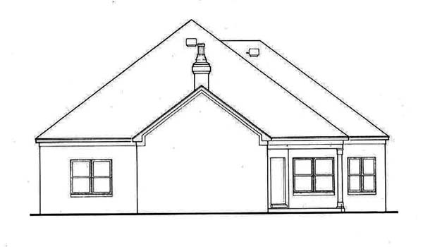 House Plan 65624 | European Style House Plan with 1891 Sq Ft, 2 Bed, 2 Bath, 2 Car Garage Rear Elevation