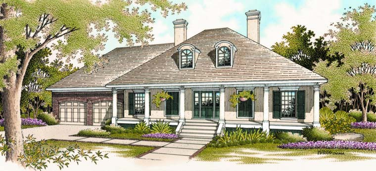 Colonial Southern House Plan 65625 Elevation