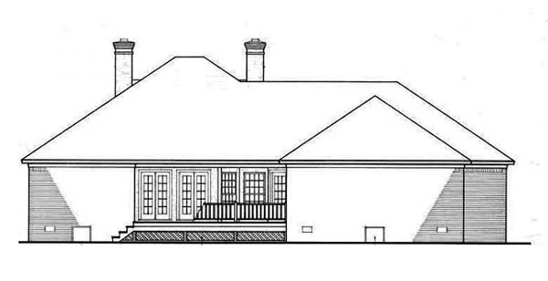 Colonial Southern House Plan 65625 Rear Elevation