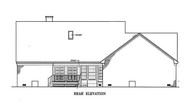 Southern House Plan 65626 Rear Elevation