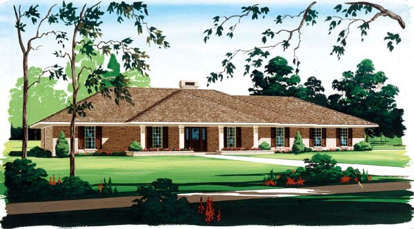 Prairie Style Southwest House Plan 65628 Elevation