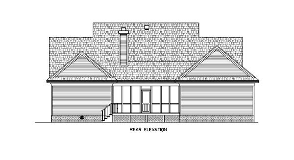 Country Southern House Plan 65633 Rear Elevation