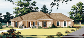 Southwest Traditional House Plan 65634 Elevation