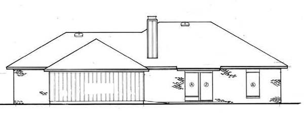 Southwest Traditional House Plan 65634 Rear Elevation