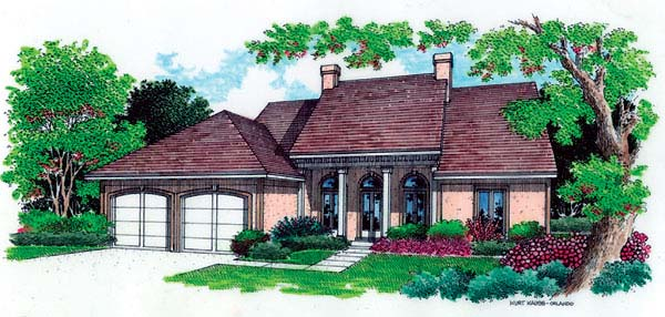 Colonial Elevation of Plan 65635