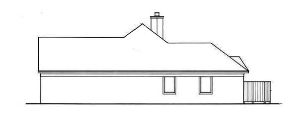 European, Mediterranean, One-Story House Plan 65636 with 3 Beds, 2 Baths, 2 Car Garage Picture 2