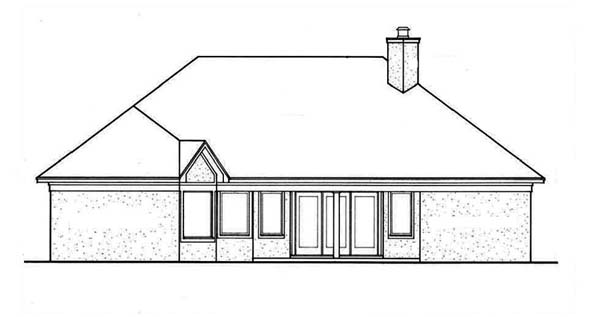 European Mediterranean House Plan 65636 Rear Elevation