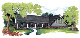Country Ranch Traditional House Plan 65637 Elevation