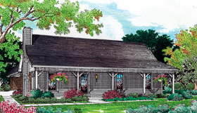 Cabin Ranch House Plan 65638 Elevation