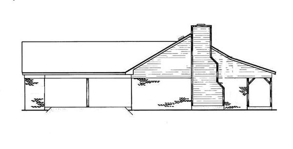 Cabin, Ranch House Plan 65638 with 3 Beds, 2 Baths, 2 Car Garage Picture 1