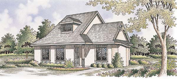 Bungalow , Contemporary , Country , Elevation of Plan 65639