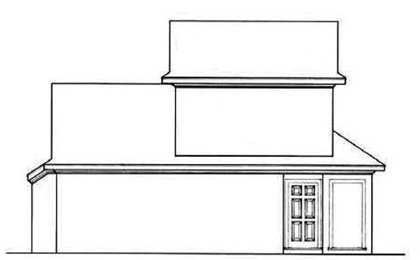 Bungalow , Contemporary , Country , Rear Elevation of Plan 65639