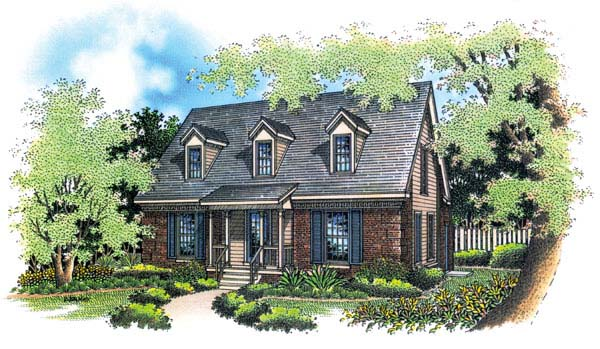 Cape Cod Country House Plan 65640 Elevation