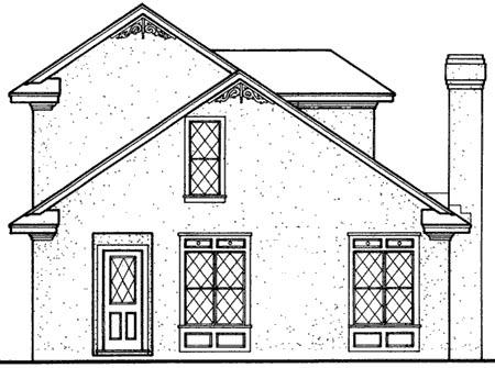 Bungalow Mediterranean House Plan 65641 Rear Elevation
