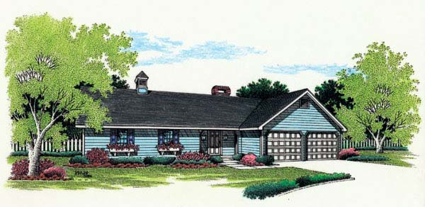 Ranch House Plan 65644 Elevation
