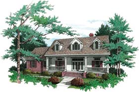 Country , Southern House Plan 65647 with 3 Beds, 2 Baths, 3 Car Garage Elevation