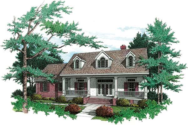 Country, Southern House Plan 65647 with 3 Beds, 2 Baths, 3 Car Garage Elevation