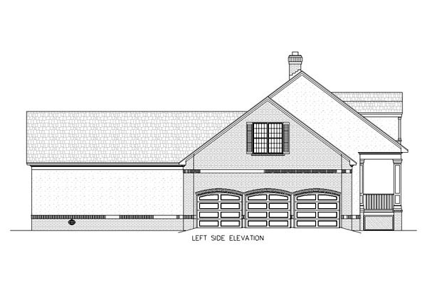 Country, Southern House Plan 65647 with 3 Beds, 2 Baths, 3 Car Garage Picture 1