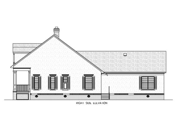 Country, Southern House Plan 65647 with 3 Beds, 2 Baths, 3 Car Garage Picture 2