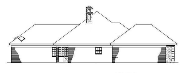 Mediterranean, One-Story House Plan 65649 with 3 Beds, 2 Baths, 2 Car Garage Picture 1