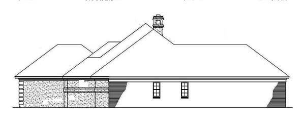 Mediterranean, One-Story House Plan 65649 with 3 Beds, 2 Baths, 2 Car Garage Picture 2