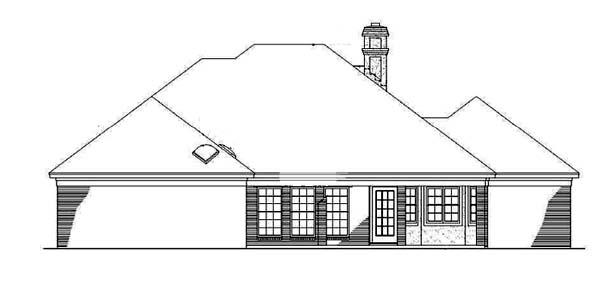 Mediterranean House Plan 65649 Rear Elevation