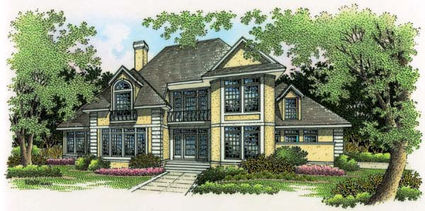 Contemporary Traditional House Plan 65652 Elevation