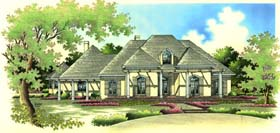 European House Plan 65653 with 4 Beds, 5 Baths, 3 Car Garage Elevation