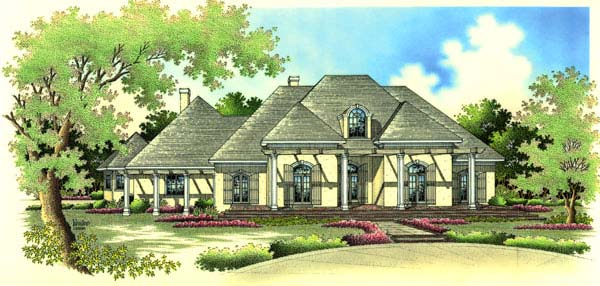 European House Plan 65653 Elevation