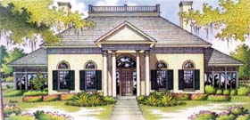 Southern , Colonial House Plan 65655 with 4 Beds, 4 Baths, 2 Car Garage Elevation