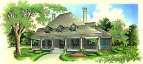 Southern , Country House Plan 65656 with 4 Beds, 3 Baths, 2 Car Garage Elevation