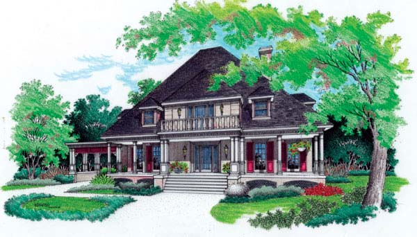 Colonial Southern House Plan 65658 Elevation