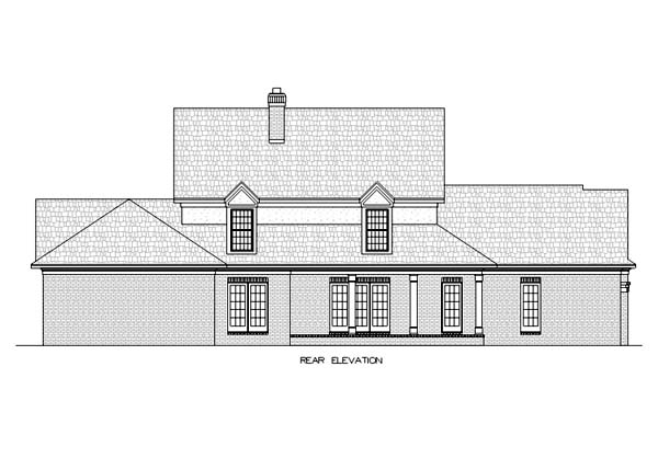 Colonial Southern House Plan 65661 Rear Elevation
