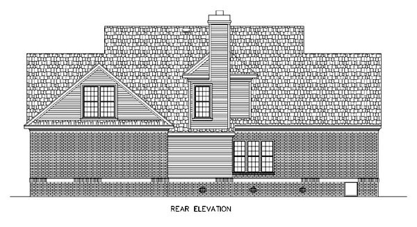 Cape Cod Country House Plan 65663 Rear Elevation