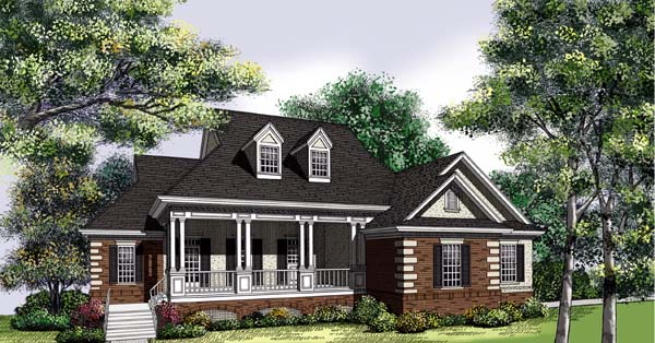 Southern House Plan 65664 Elevation