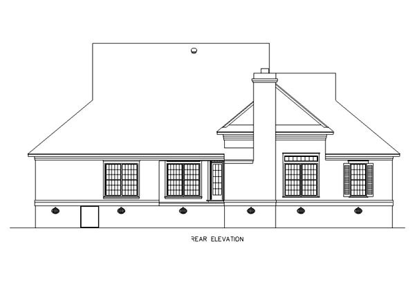 Southern House Plan 65664 Rear Elevation