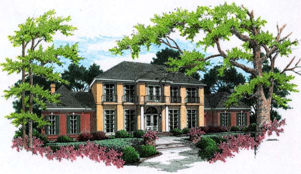 Colonial, Southern House Plan 65665 with 4 Beds, 6 Baths, 3 Car Garage Elevation