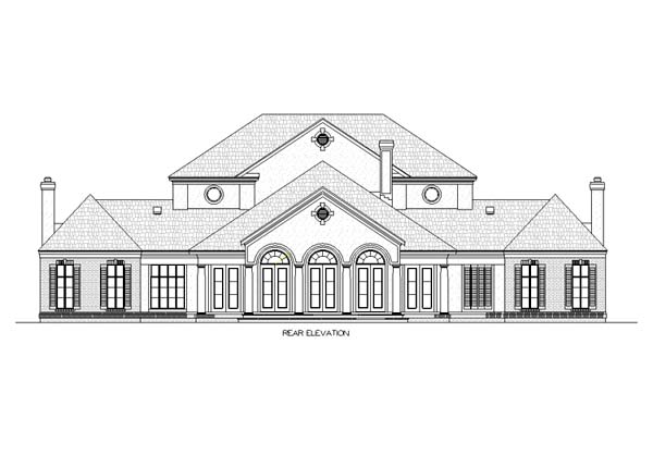 Colonial Southern House Plan 65665 Rear Elevation