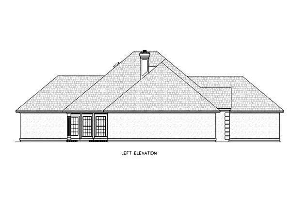 Mediterranean, One-Story House Plan 65666 with 4 Beds, 3 Baths, 2 Car Garage Picture 1