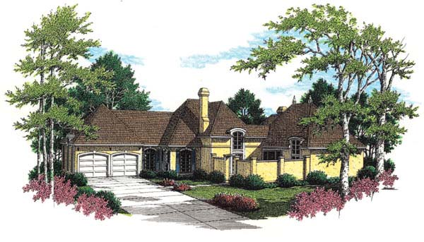 House Plan 65668 | Mediterranean Style Plan with 2259 Sq Ft, 3 Bedrooms, 3 Bathrooms, 2 Car Garage Elevation