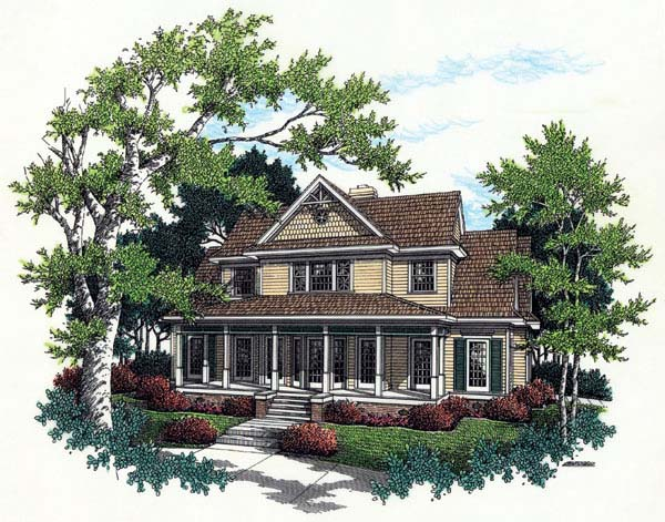 Bungalow Country Farmhouse House Plan 65669 Elevation